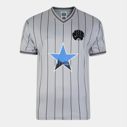 Score Draw Newcastle United 1984 Away Retro Camiseta de Futbol