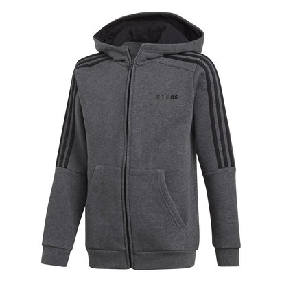 adidas Boys 3 Stripes Full Zip Track Top Hoodie