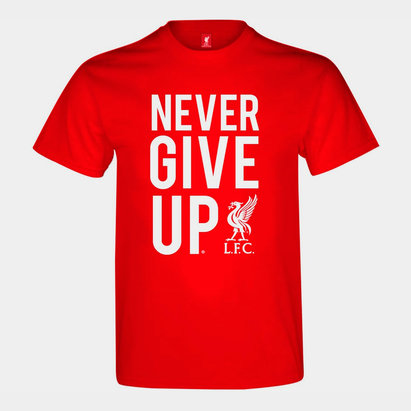 Source Lab Liverpool Never Give Up T Shirt Mens