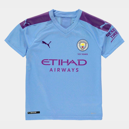 Puma Manchester City 19/20 Kids Home S/S Football Shirt