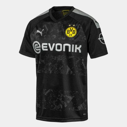 Puma Borussia Dortmund 19/20 Kids Away S/S Football Shirt