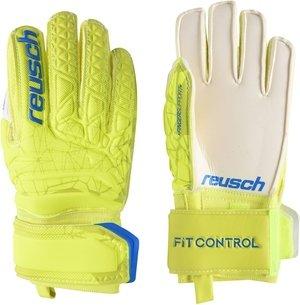 Reusch SG Finger Save Glove Lime/Safety Yellow Junior