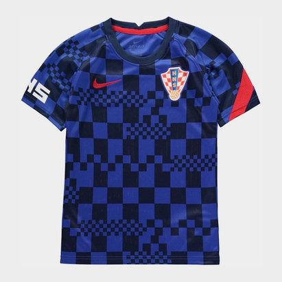 Nike Croatia 2020 Kids Pre Match Football T-Shirt