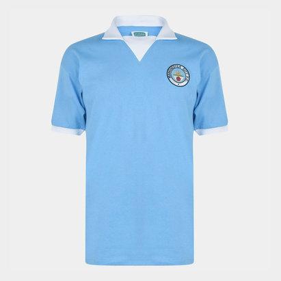 Score Draw Manchester City 1976 Retro Football Jersey Mens