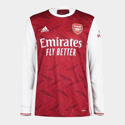 adidas Arsenal Home Long Sleeve Shirt 2020 2021