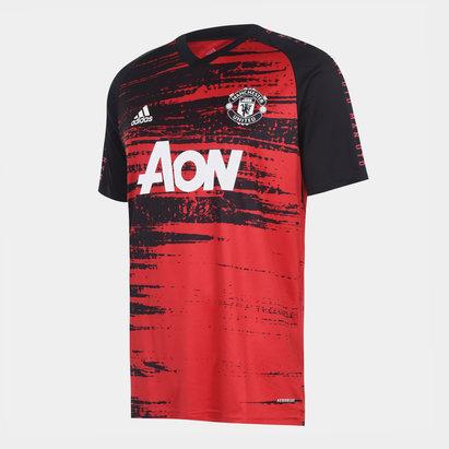 adidas Manchester United Pre Match Shirt 20/21 Kids