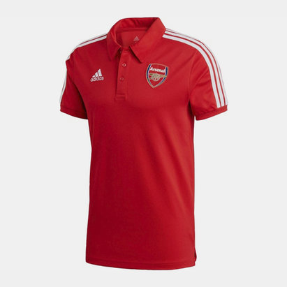 adidas Arsenal Three Stripe Polo Shirt 20/21 Mens
