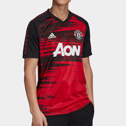 adidas Manchester United Pre Match Shirt 20/21 Mens