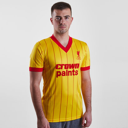 Liverpool 1982 Away Crown Paints M/C Retro - Camiseta de Fútbol