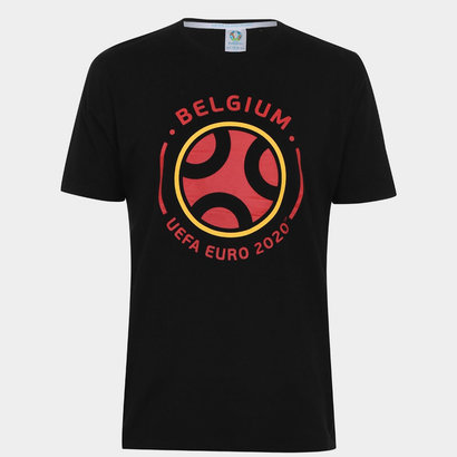 UEFA Euro 2020 Belgium Graphic T-Shirt Mens
