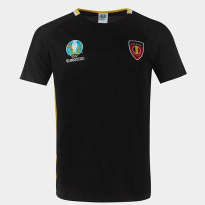 UEFA Euro 2020 Belgium T Shirt Mens
