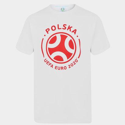 UEFA Euro 2020 Poland Graphic T Shirt Mens