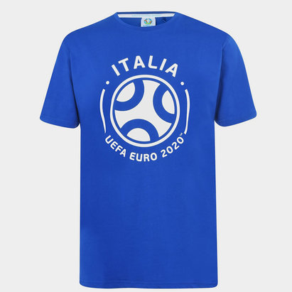 UEFA Euro 2020 Italy Graphic T Shirt Mens