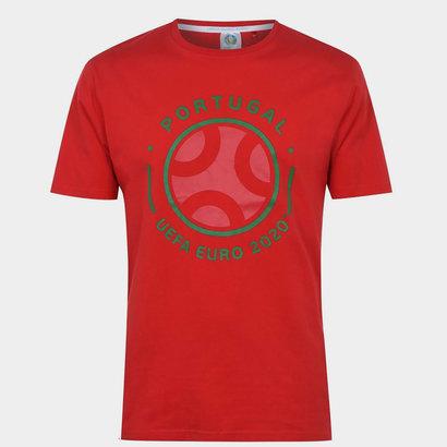 UEFA Euro 2020 Portugal Graphic T shirt Mens