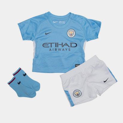 Nike Manchester City 17/18 Bebés Home - Equipación de Fútbol
