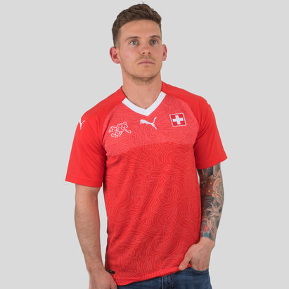 Puma Suiza 17/18 Home M/C Réplica - Camiseta de Fútbol