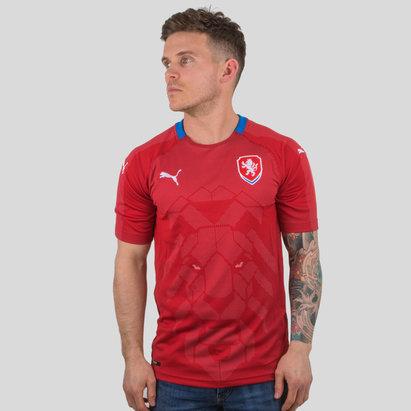 Puma República Checa 17/18 Home M/C Réplica - Camiseta de Fútbol