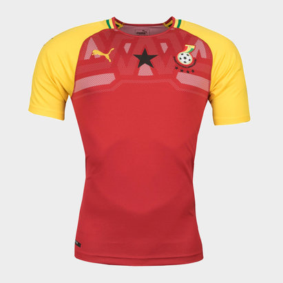 Puma Ghana 17 18 Home M C Réplica - Camiseta de Fútbol d74023cadfc68