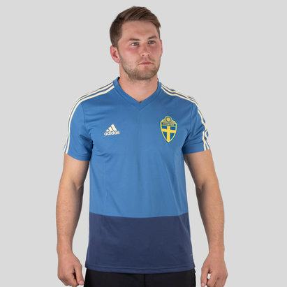 adidas Suecia 2018 M/C Fútbol - Camiseta de Entrenamiento