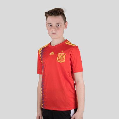 adidas España 2018 Home Niños M/C Réplica - Camiseta de Fútbol