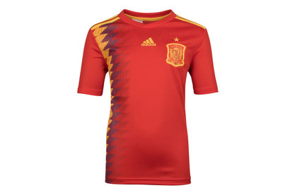 adidas España 2018 Jóvenes M/C Réplica - Camiseta de Fútbol
