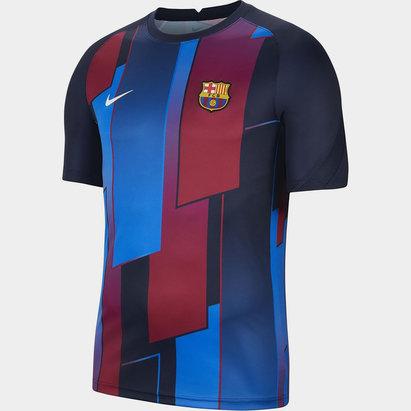 Nike Barcelona Pre Match Shirt 2021 2022 Mens