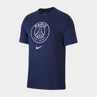 Nike Paris Saint Germian T Shirt Evergreen Crew
