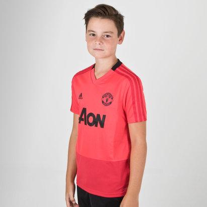 adidas Manchester United 18/19 Camiseta de Entrenamiento de Futbol para Niños