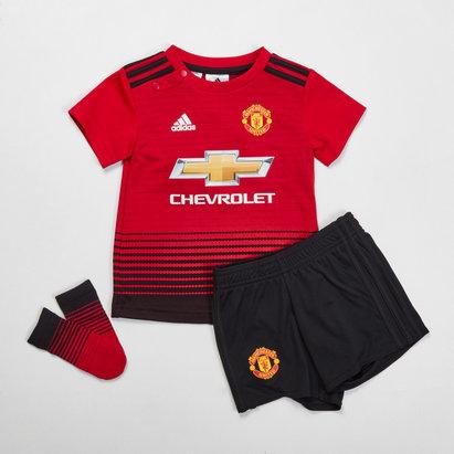 adidas Manchester United 18/19Home Replica Kit de Futbol para Niños