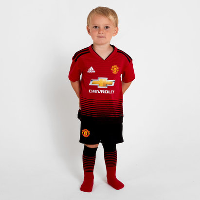 adidas Manchester United 18 19 Home Replica Mini Kit the Futbol 1ff7d59816daa