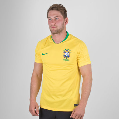 Nike Brasil 2018 Home M/C Stadium Camiseta de Futbol