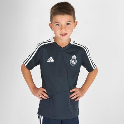 adidas Real Madrid FC 18/19 Niños M/C Fútbol - Camiseta de Entrenamiento