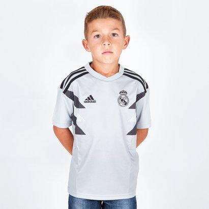 adidas Real Madrid 18/19 Niños Pre-Match Fútbol - Camiseta de Entrenamiento