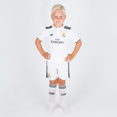 adidas Real Madrid 18/19 Home Replica mini kit de Futbol para Niños