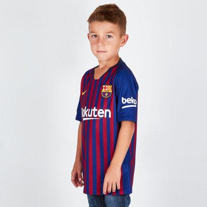 Nike FC Barcelona 18/19 Home Stadium Replica Camiseta de Futbol Para Niños