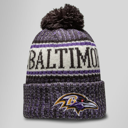 New Era NFL Baltimore Ravens Sideline Bobble Gorro Tejido