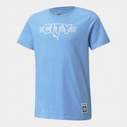 Puma Manchester City Core T Shirt Junior