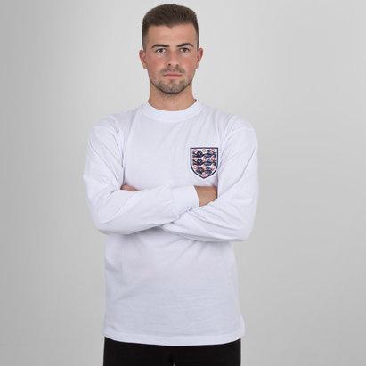 Score Draw England 1966 Home World Cup Finals No 6 Retro Football Shirt