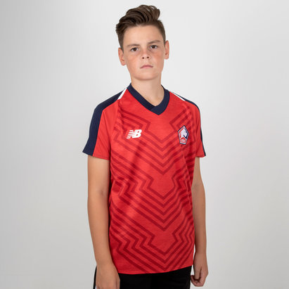 New Balance Lille OSC 18/19 Home - Replica, Camisete de Fútbol para Niños