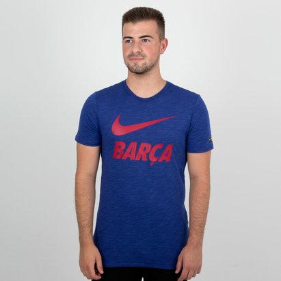 Nike FC Barcelona 18/19 Dry Swoosh - Camiseta de Fútbol