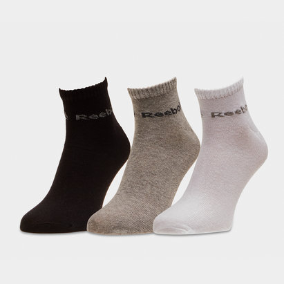 Reebok ACT Core 3 Pack Ankle Socks