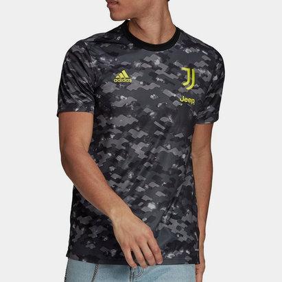 adidas Juventus Pre Match Shirt 2021 2022 Mens