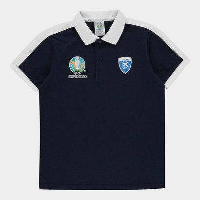 UEFA Euro 2020 Scotland Polo Shirt Junior Boys