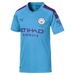 Puma Manchester City 19/20 Kids Home S/S Replica Football Shirt