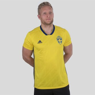 Suecia 2018 Home M/C Réplica - Camiseta de Fútbol