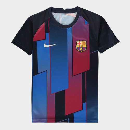 Barcelona Pre Match Shirt 2021 2022 Junior