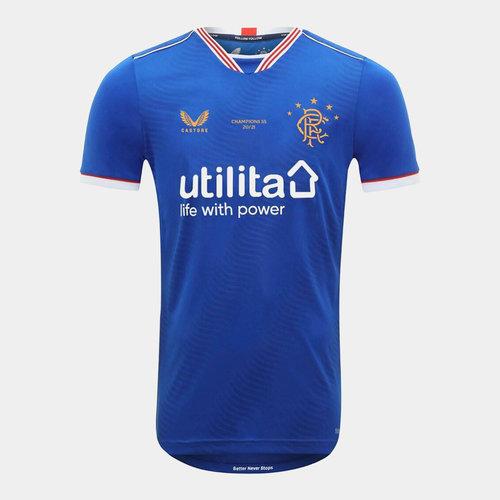 Camiseta Rangers Champions Local 2020 2021 Junior