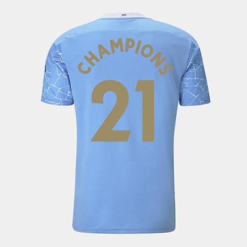 Manchester City Campeon Camiseta de Local 2020 2021