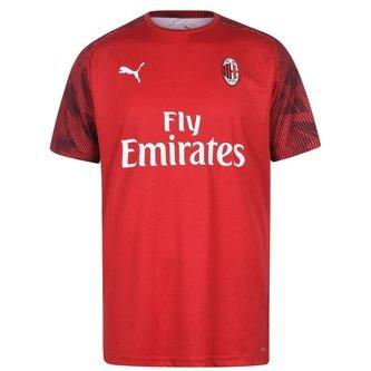 AC Milan Short Sleeve T Shirt Mens